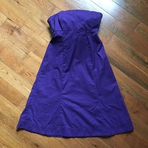 Purple GAP strapless dress